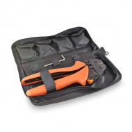 Set of tools for crimping the tips KI-C71