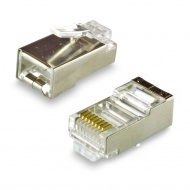 Connector RJ45 8P8C Cat 5e for twisted pair, shielded, gold plated contacts