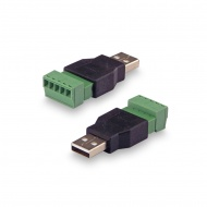 The USB adapter(male) - terminal block screw