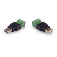 Kit for transferring USB on twisted pair USB (male) -USB (female)