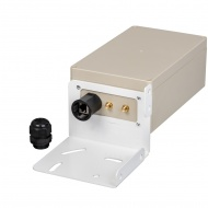 Bracket KG-SMAx2 with hermetic box for parabolic antenna (with RJ45 hermetic input)