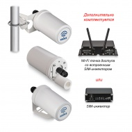 Router Kroks Rt-Pot RSIM DS sH built-in antenna with modem Huawei E3372 with SIM-injector, RJ-45 cable lead-in