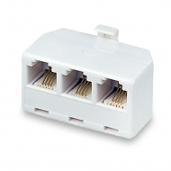 Telephone triple (plug - 3 sockets) 6P-4C