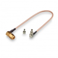 Universal pigtail (cable assembly) CRC9, TS9 - SMA (male), angled