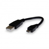 Adapter micro-USB - USB2.0, data transmission, 15 cm