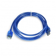 Adapter USB 2.0 (male) - USB 2.0 (female), data transmission, 180 cm