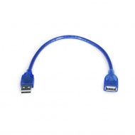 Adapter USB 2.0 (male) - USB 2.0 (female), data transmission, 30 cm